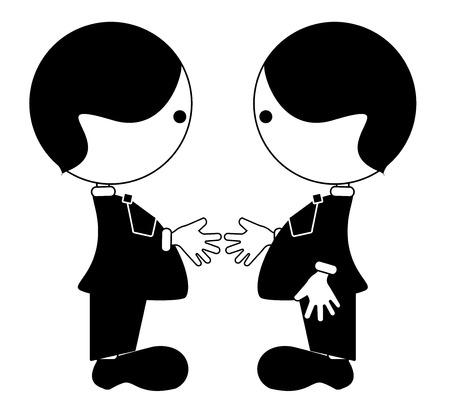 Friendship, partnership vector Illustration
