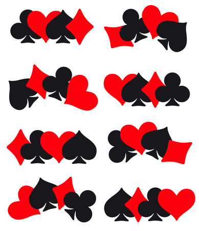 Game cards. Casino. Icon. Background Vettoriali