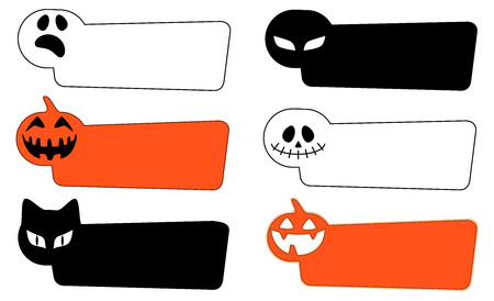 A set of labels. Halloween Pictures Illustration