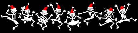 Dancing people, party, christmas