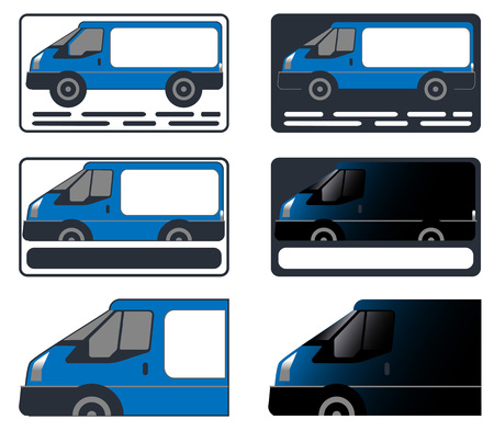 business card, car, minibus, minivan
