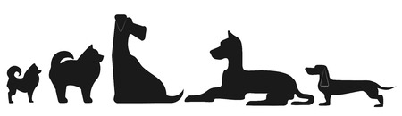 Dogs of different breeds. Image for logo design Ilustração