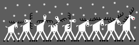 deer, winter, snowfall, flock, Christmas greetings