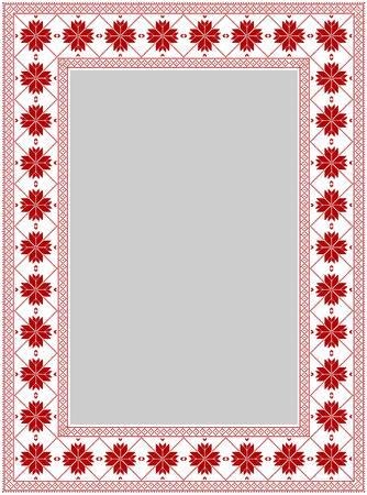frame, winter, knitting, pattern