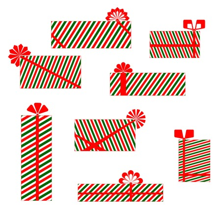 set of images of gift boxes for design