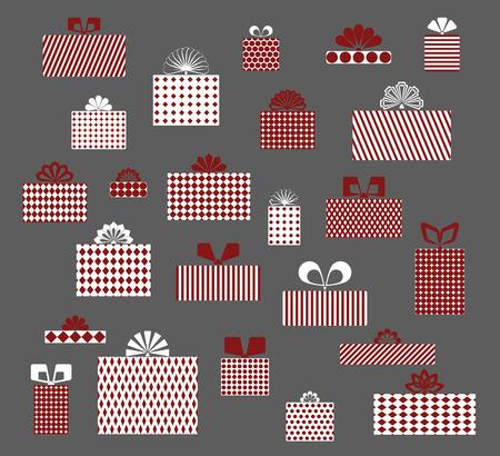 gift, box, surprise, set Çizim