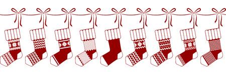 socks, christmas, garland, decoration