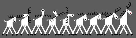 deer, winter, herd, Christmas greetings