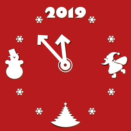 clock, christmas, eve