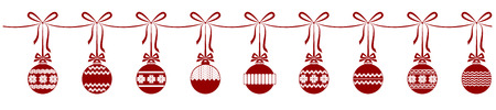 balls, christmas, garland, decoration,