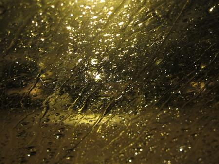 potassium: potassium rain in the evening windshield