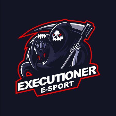 grim reaper for e-sport gaming mascot Vetores