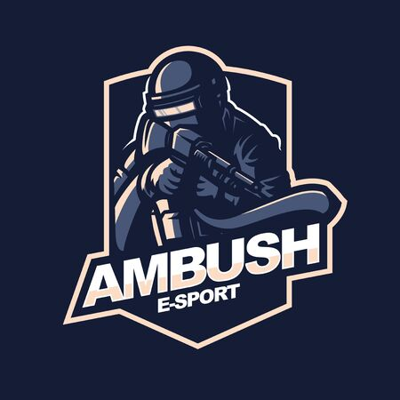 survivor logo for e-sport gaming mascot logo