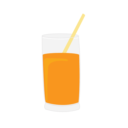 orange juice: Orange juice vector illustration isolated on white background Illustration