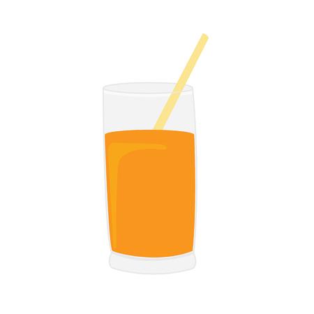 Orange juice vector illustration isolated on white background Illustration