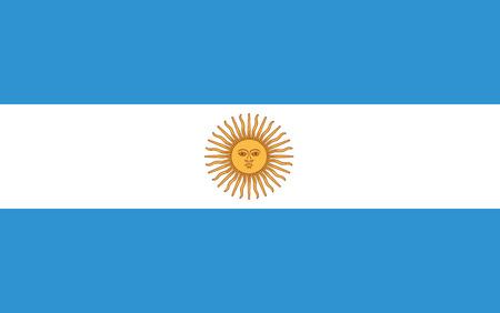 Flag of Argentina Illustration