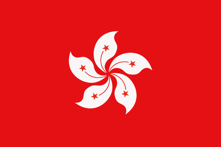 HONG KONG: Flag of Hong kong Illustration
