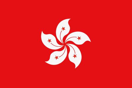 Flag of Hong kong Stock Illustratie