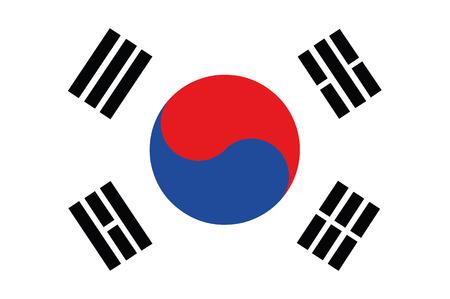 Flag of South korea Vettoriali