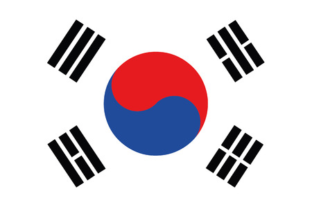 south korea flag: Flag of South korea Illustration