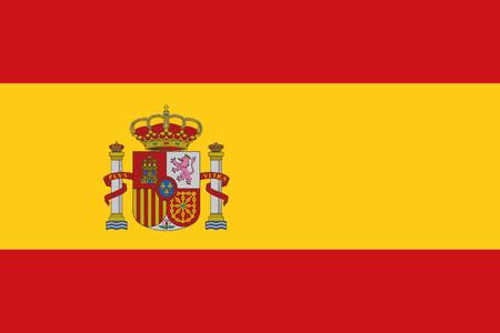 スペインの旗  イラスト・ベクター素材