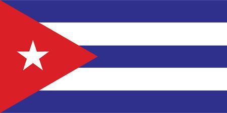 flag of cuba Ilustracja