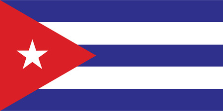 flag of cuba Illustration