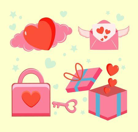 set icon valentines day