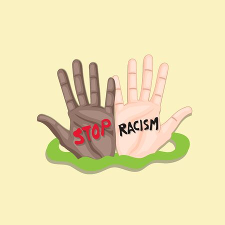 hand illustration stop racism people
