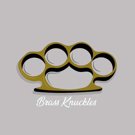 Vector illustration of Brass knuckles