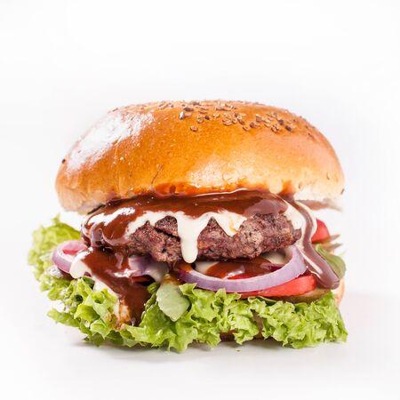 amerykański soczysty ser burger soucy