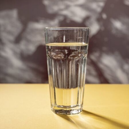 A simple glass of water in the kitchen