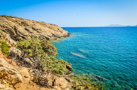 Emerald beaches of Naxos, Greece 写真素材