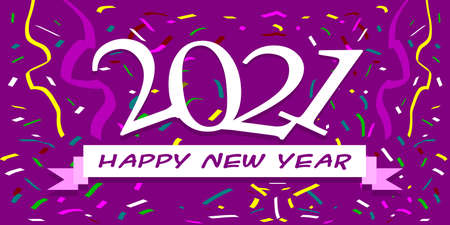 2021 Set of Happy New Year 2021. Welcome New Year christmas. Cover of card, print, overlay or stamp, seal, greeting, invitation card for 2021. Vector illustration.