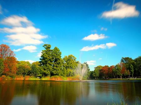 Fontaine du Vondelpark, Amsterdam Banque d'images - 85023498