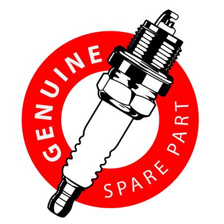 spark plug label
