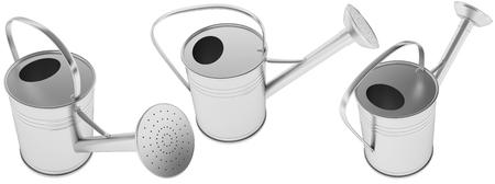 aluminum: Galvanized metal watering can