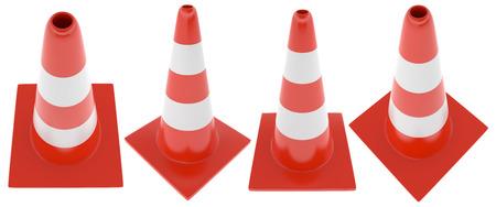 Plastic orange road cone