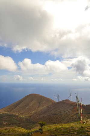 Power wing turbines in el hierro, spain Archivio Fotografico - 98042547