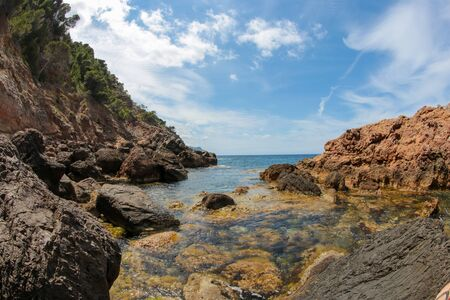 Es Calo S´ Estaca, Natural Park of the Sierra de Tramuntana, Valldemossa, Majorca, Balearic Islands Spain