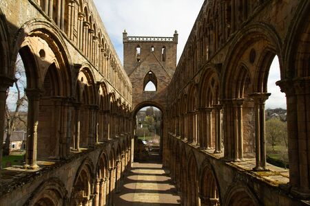 Jedburgh Abbey ruins, (12th-century) On the Scottish Borders