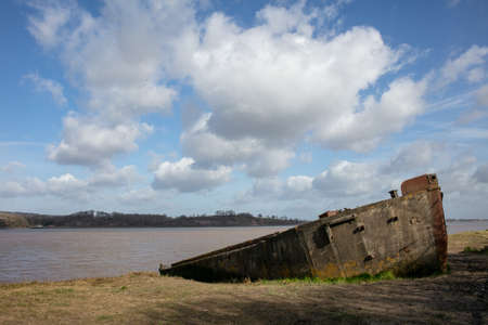 Old shipwreck on the Purton Ships' Graveyard