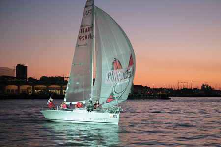 trieste: Sailing by night in Barcolana in Trieste Editorial