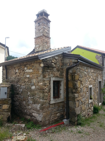 trieste: An old stone house in the Karst of Trieste