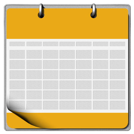 nota: Calendar with space for inserting text and slightly raised page Stock Photo