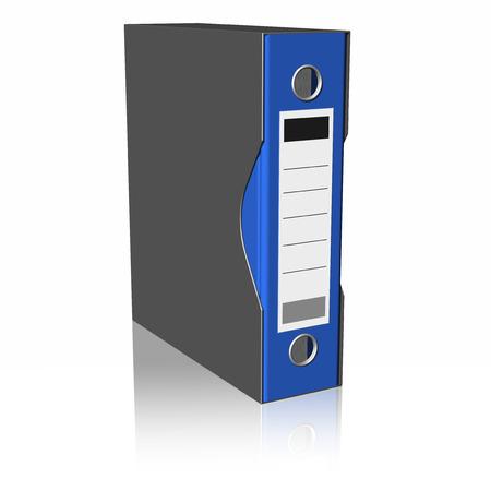 blu: Raccoglitore cartelle blu, isolato su sfondo bianco.
