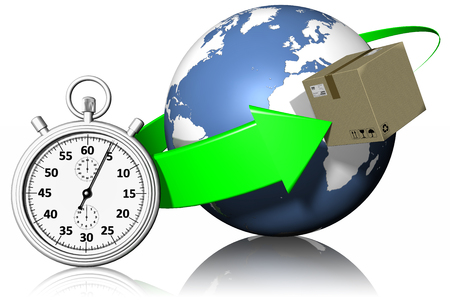 mondo: Pacco, imballaggio spedito e recapitato in modo veloce.