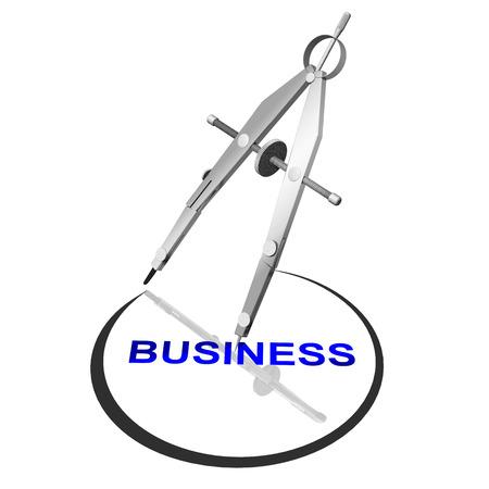 successo: Compasso traccia cerchio attorno a Business,