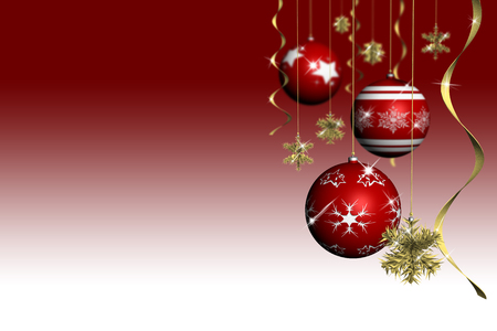 Kerstmis. Kerstboom met ruimte voor tekst Stockfoto