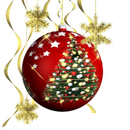 allegro: Natale. Decorazione natalizia con sfondo bianco.